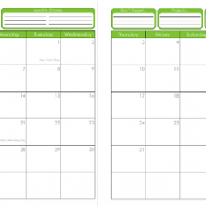 31 Days of Home Management Binder Printables: Day #2 ~ 2012-2013 Calendar
