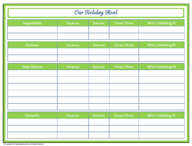 31 days of home management binder printables  day  30
