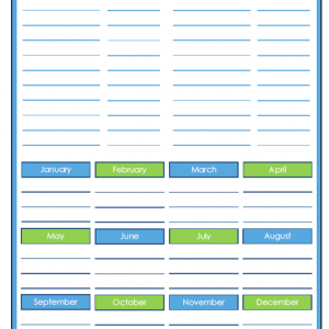 31 Days of Home Management Binder Printables: Day #20 Household Projects Planner