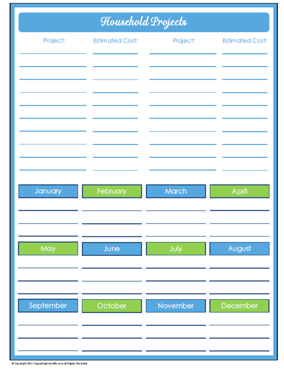 It is a picture of Printable Project Planner within june 2018