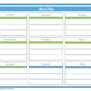 31 Days of Home Management Binder Printables: Day #24 Weekly Meal Planning Schedule