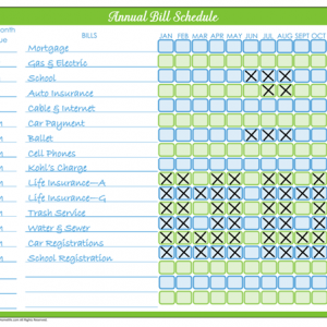 31 Days of Home Management Binder Printables: Day #6 Monthly Bill Pay Schedule
