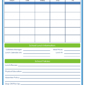 31 Days of Home Management Binder Printables: Day #15 School Contact Information