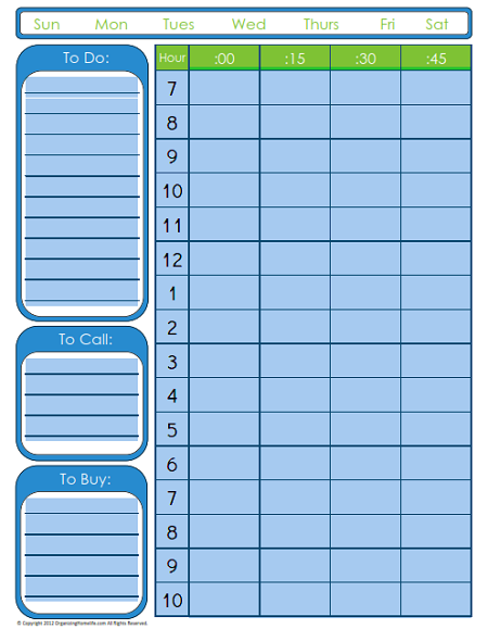 editable to do list with time schedule