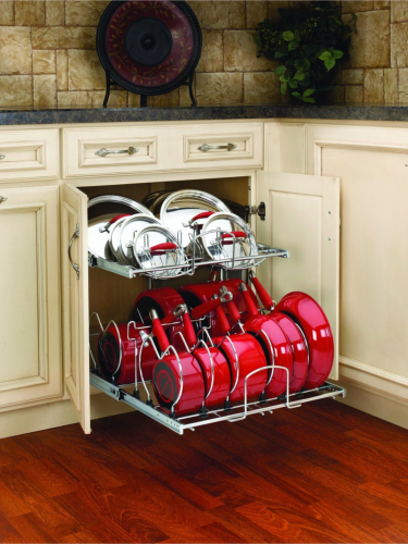 pots and pans storage small kitchen diy knock organization for pots amp pans how to 9166