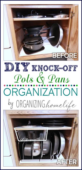 Diy Knock Off Organization For Pots