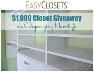 EasyClosets $1,000 Closet Giveaway