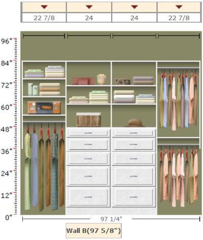 Organizing A Shared Closet With Easyclosets Organizing