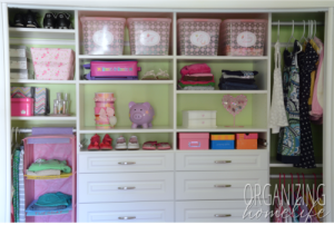 Organized Kids' Closet