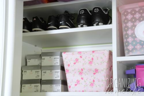 Organizing Soccer & Ballet Shoes