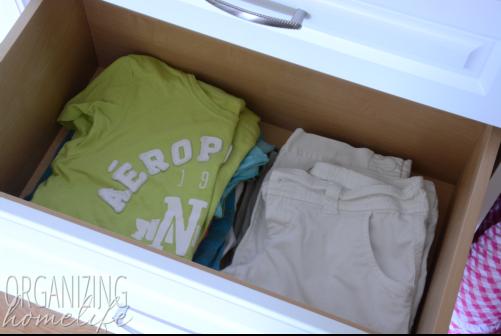 Organizing Teen Clothing