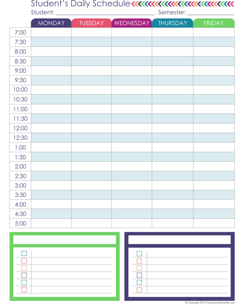homeschool planner - expansion pack