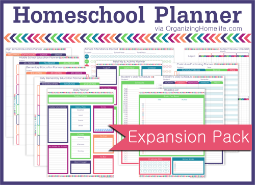 Printable Homeschool Planner ~ The Expansion Pack