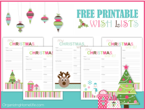 Free Printable Christmas Wish Lists