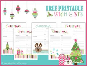 Free Printable Christmas Wish Lists