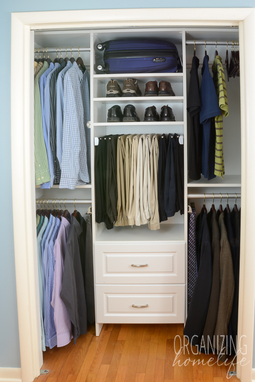 Master Bedroom Closet Organization His