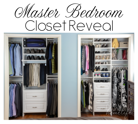 master bedroom closet organization the reveal surprise 19110 | master bedroom closet reveal on organizing homelife
