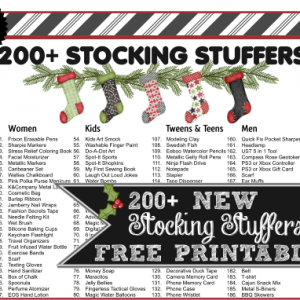 200 Stocking Stuffer Ideas for Men, Women, Teens, Boys, Girls, & Pets