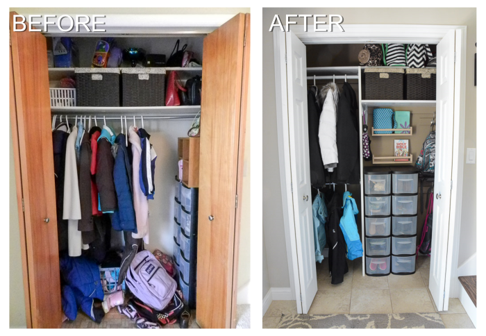 Before and After Closet Organization | Organizing Homelife