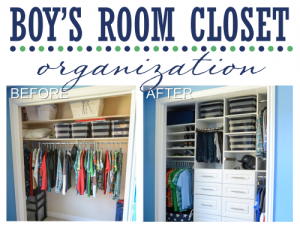 Boy's Room Closet Organization | Organizing Homelife