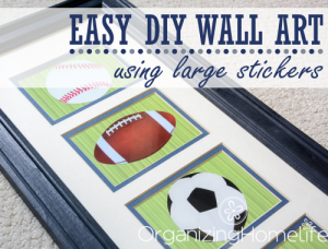 Easy DIY Wall Art Using Stickers