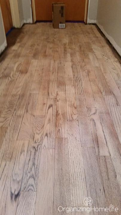 Sanding hallway | Organizing Homelife