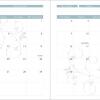 2020 Printable Swirl Calendar